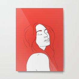 Woman in Reverie Metal Print