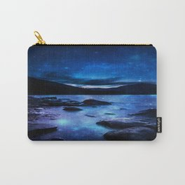 Magical Mountain Lake Dark Blue Carry-All Pouch