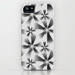 Fragmented White Burst iPhone Case