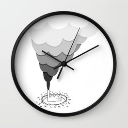 The Factory and the People Wall Clock