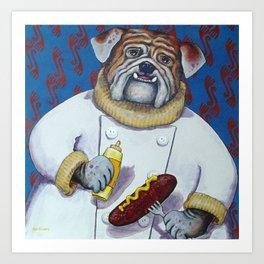 Haute Dog Chef Art Print