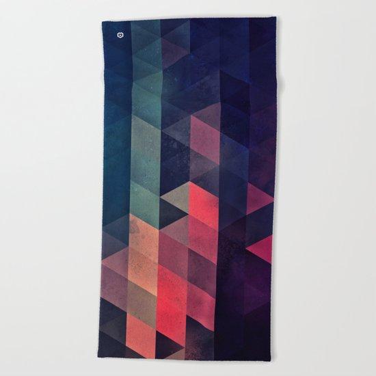 edyfy wyth lyys Beach Towel