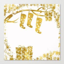 Gold Christmas 02 Canvas Print