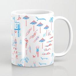 beach club pattern Coffee Mug