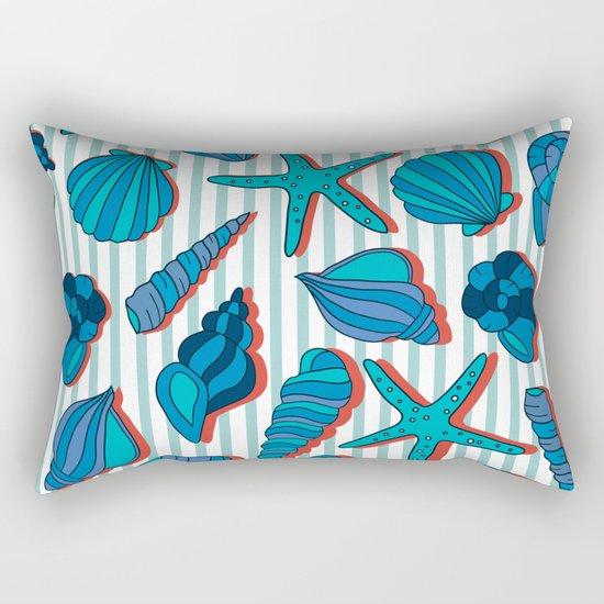 summer time blue Rectangular Pillow