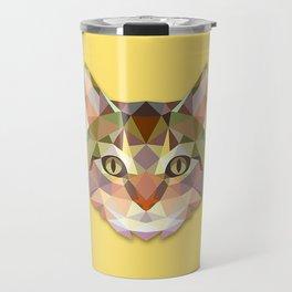 Geometric Cat Travel Mug