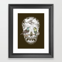 Nature's Skull II Framed Art Print