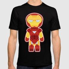 Chibi Iron Man Mens Fitted Tee MEDIUM Black