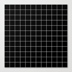 Black White Grid Canvas Print