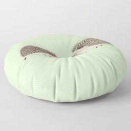 Two Hedgehogs Floor Pillow