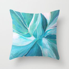 Succulent Painting, Plant art, Let love grow, Renewed Daily Throw Pillow