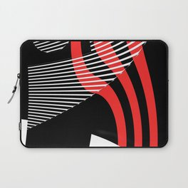 Black and white meets red Version 30 Laptop Sleeve