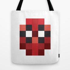 hero pixel red blue Tote Bag