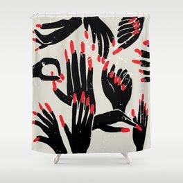 hands, fingers, nails & fingernails Shower Curtain