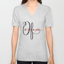 Of all the gin joints Unisex V-Neck