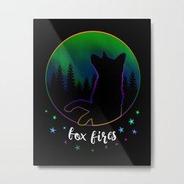 Fox Fires Metal Print