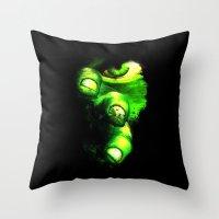 hulk Throw Pillows featuring Hulk by Juliana Rojas   Puchu