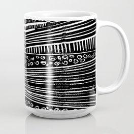 Linocut Tribal Pattern Coffee Mug
