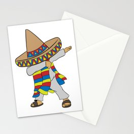 Mexican themed Top Garment Apparel Dab Dabbing Swag Dope T-shirt Design Mexico Green White Red Stationery Cards