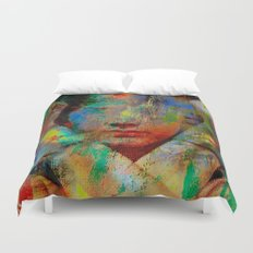 Wonder who ? Duvet Cover