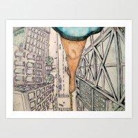 vertigo Art Prints featuring Vertigo by Rene Robinson
