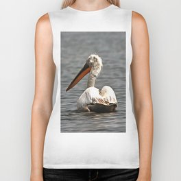 The Sea Breeze Blows The Pelican Where He Wants To Go Biker Tank