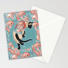 Pets Ink - Siamois Pattern Stationery Cards