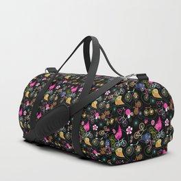 Cycledelic black Duffle Bag