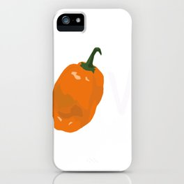 Eating Healthy Gardener Gift Habanero Hot Pepper Lover Foodie iPhone Case