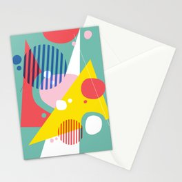 Abstract Pop II Stationery Cards