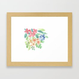 Cluster of flowers Framed Art Print