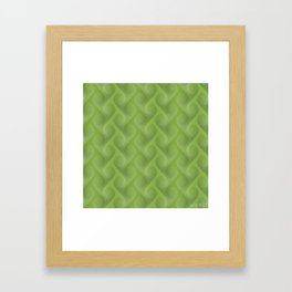 Green Pattern G03 Framed Art Print