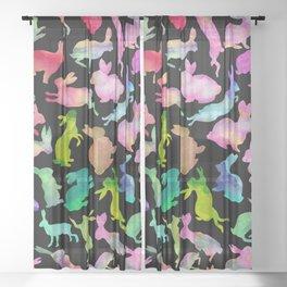 Soul Bunny - Spring Time - Dark Sheer Curtain
