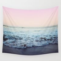 shipping Wall Tapestries featuring Crash into Me by Leah Flores