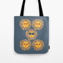 Retro Sunshine Party - Blue #summervibes Tote Bag