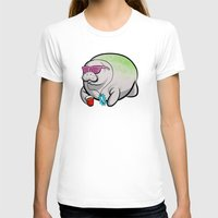 manatee T-shirts featuring Party Manatee by Theo Nicole Lorenz
