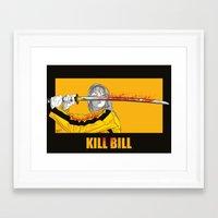 kill bill Framed Art Prints featuring Kill Bill  by Marckos Paulo