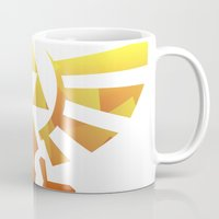 triforce Mugs featuring Triforce by Wicttor