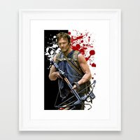 daryl Framed Art Prints featuring Daryl Dixon by SB Art Productions
