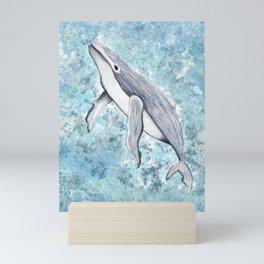 Humpback Whale Swimming Underwater Mini Art Print