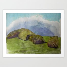 An Afternoon near the Carved Stones Art Print