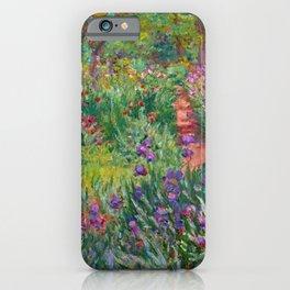 Claude Monet The Iris Garden At Giverny iPhone Case
