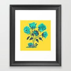 Snails N' Roses Framed Art Print