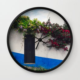 Doorways in Óbidos, Portugal Wall Clock
