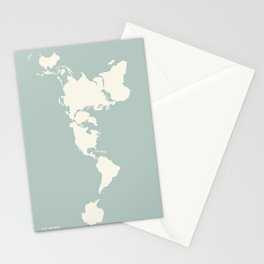 Dymaxion Map of the World Stationery Cards