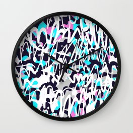 Graffiti illustration 02 Wall Clock