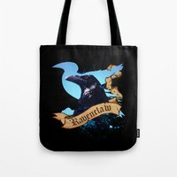 ravenclaw Tote Bags featuring Ravenclaw by Markusian