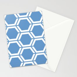 Livid - turquoise - Geometric Polygon Pattern Stationery Cards