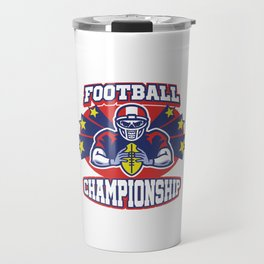 Rugby Players Footballer Goalie Contact Sport American Football Championship Gift Travel Mug