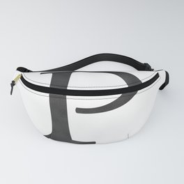 Letter P Initial Monogram Black and White Fanny Pack